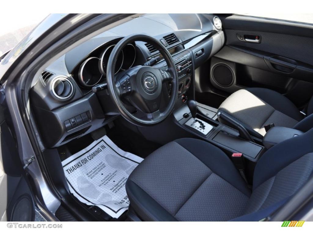 hight resolution of black interior 2005 mazda mazda3 i sedan photo 49823844