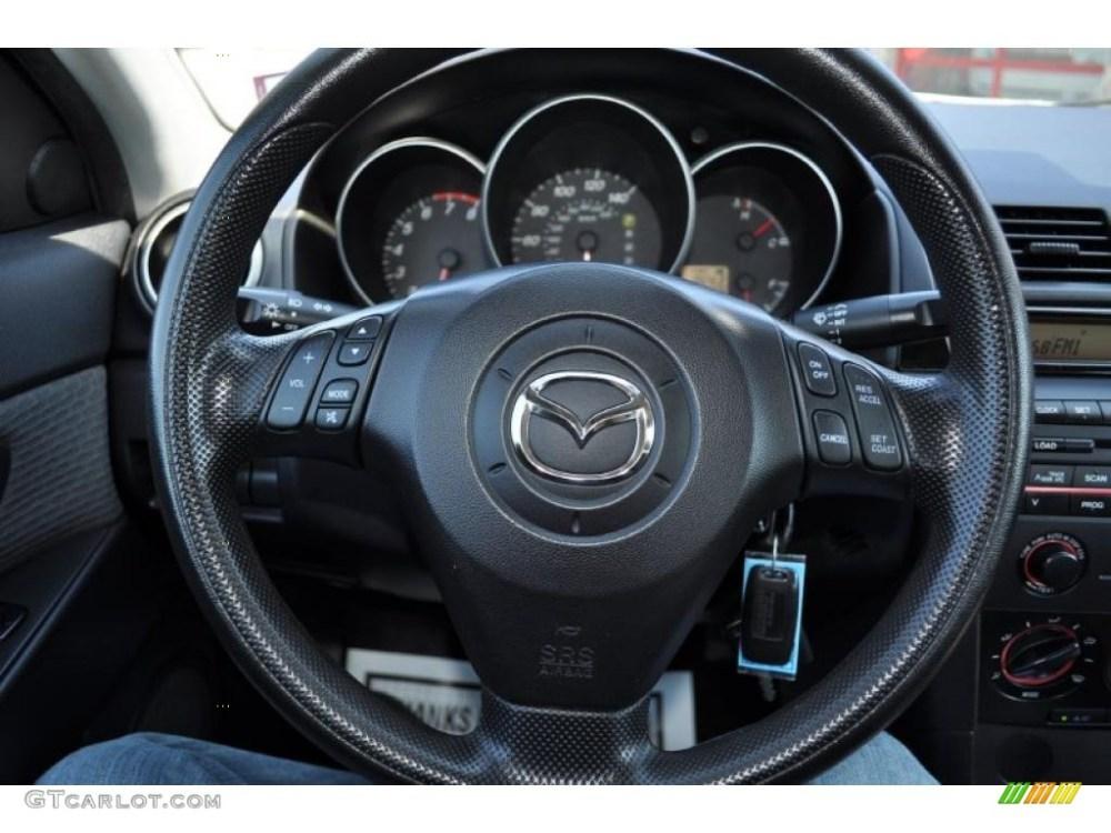 medium resolution of 2005 mazda mazda3 i sedan black steering wheel photo 49823922