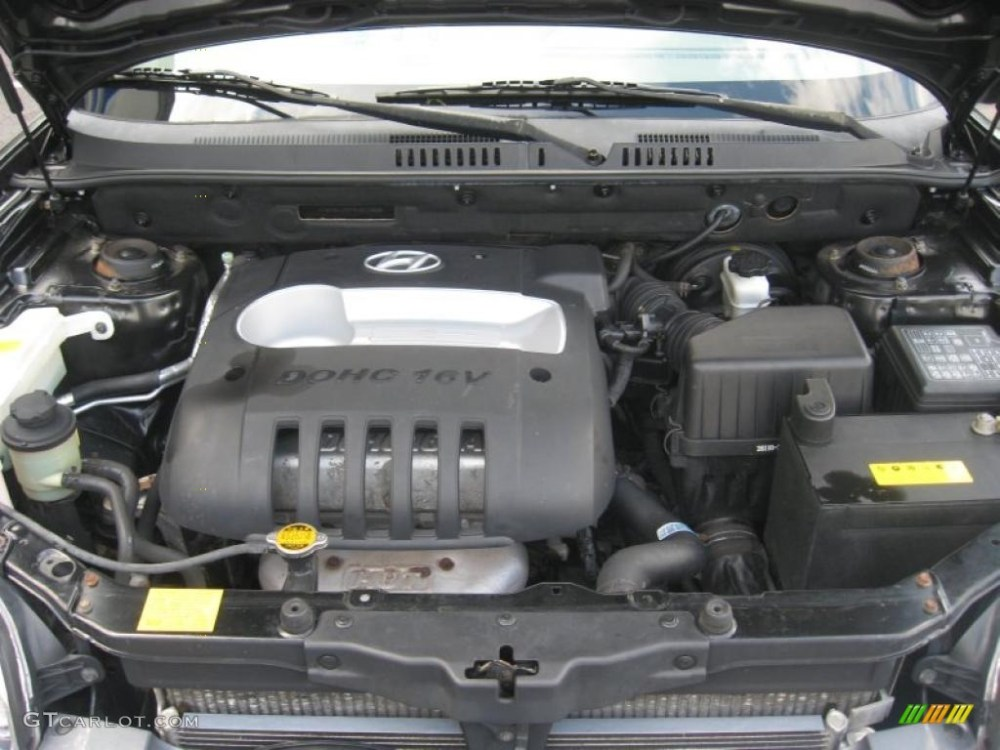 medium resolution of 2004 hyundai santa fe standard santa fe model 2 4 liter dohc 16v 4 cylinder engine photo