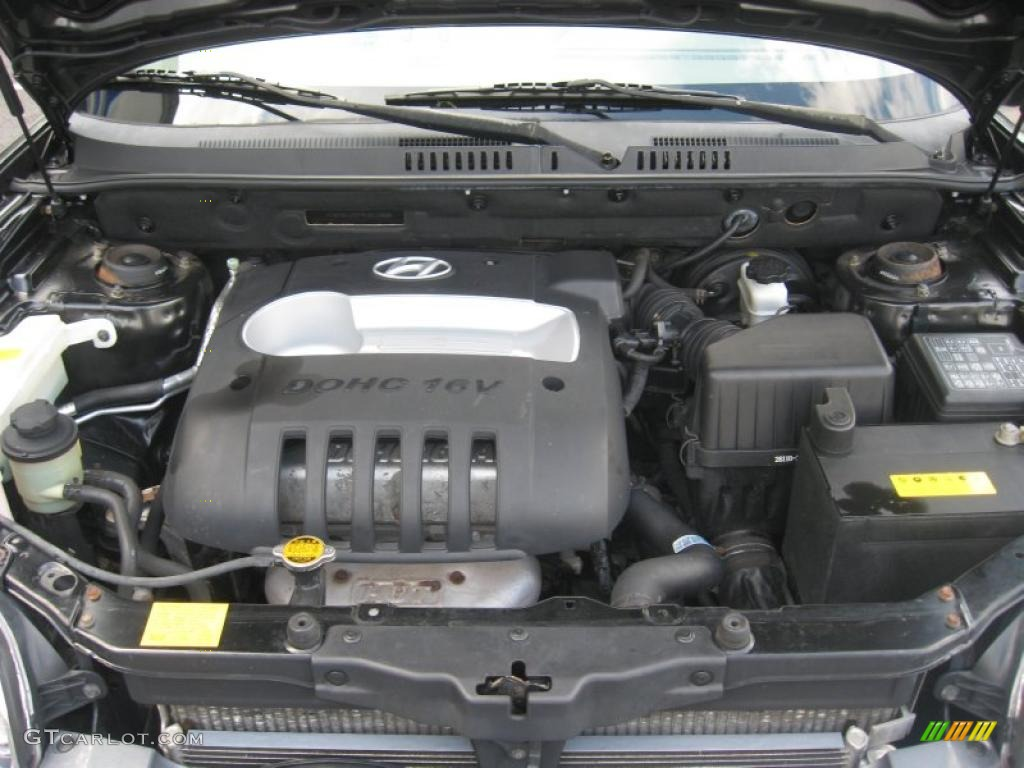 hight resolution of 2004 hyundai santa fe standard santa fe model 2 4 liter dohc 16v 4 cylinder engine photo