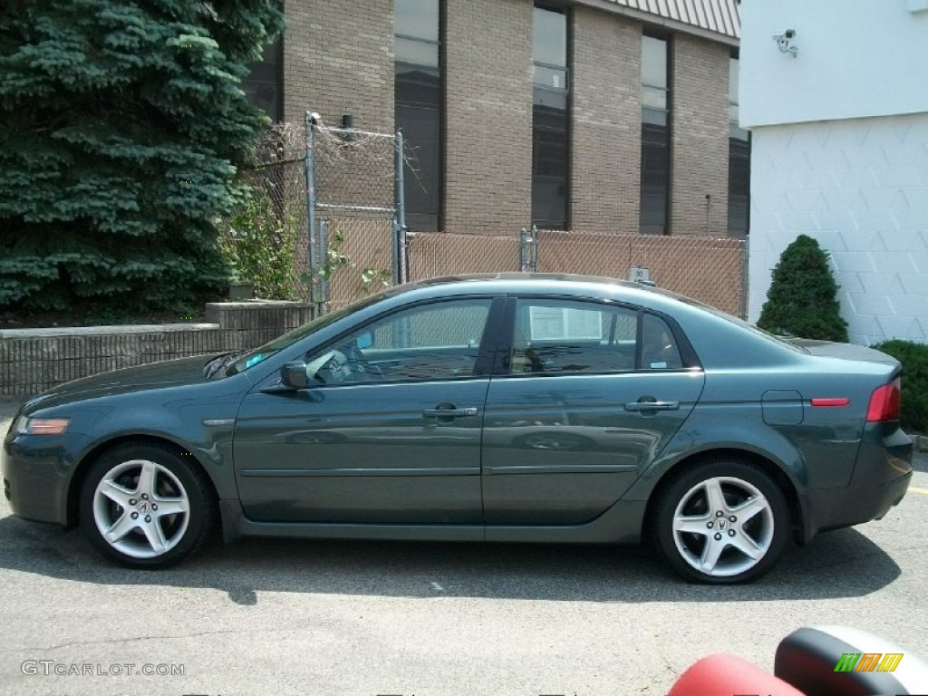 hight resolution of deep green pearl 2004 acura tl 3 2 exterior photo 50903776
