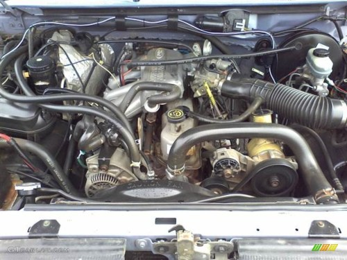 small resolution of 1996 ford f150 xlt regular cab 4 9 liter ohv 12 valve inline 6 cylinder engine