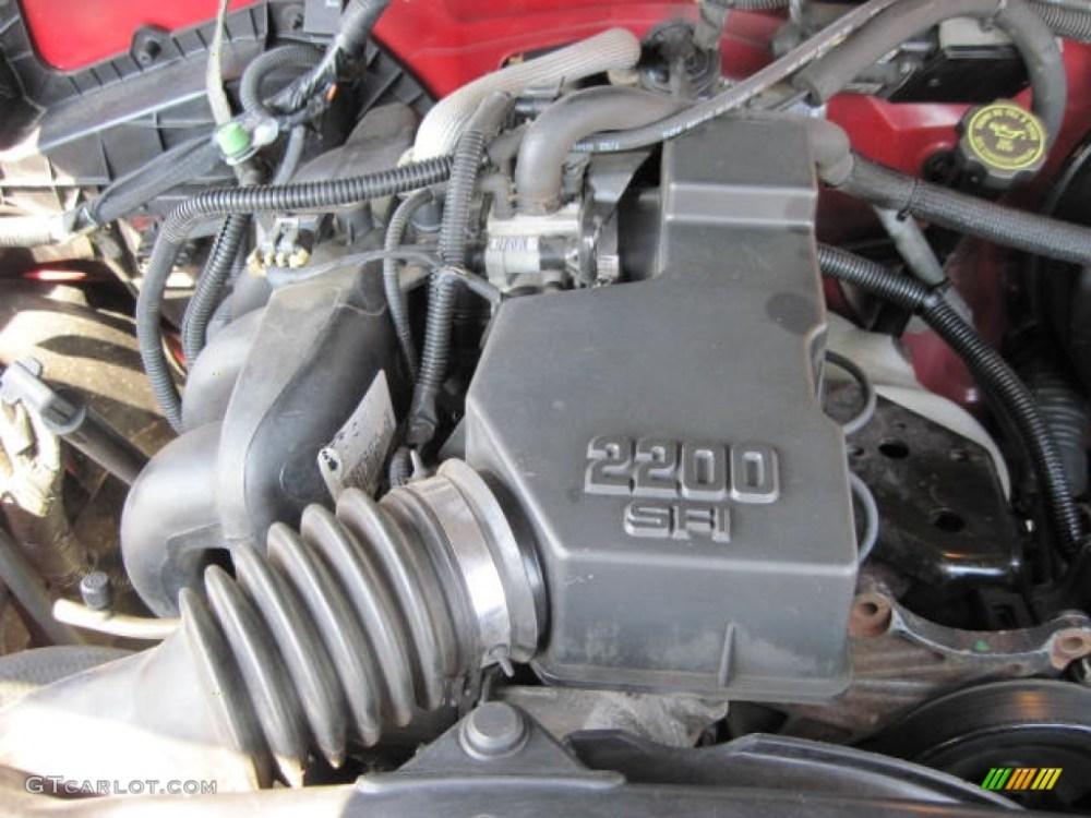 medium resolution of 1998 chevrolet s10 regular cab 2 2 liter ohv 8 valve 4 cylinder engine photo