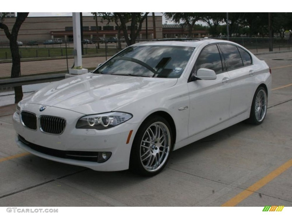 medium resolution of alpine white 2011 bmw 5 series 535i sedan exterior photo 51681156