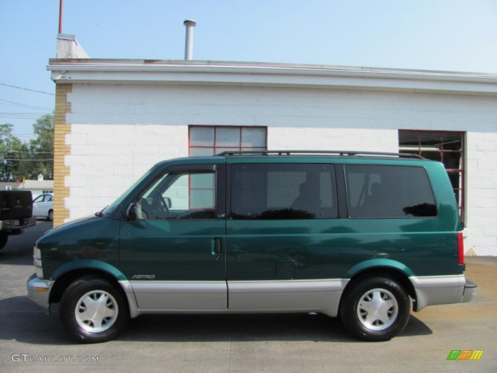 medium resolution of dark forest green metallic 1999 chevrolet astro ls passenger van exterior photo 51908306
