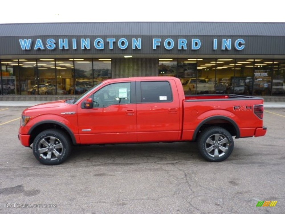 medium resolution of race red ford f150