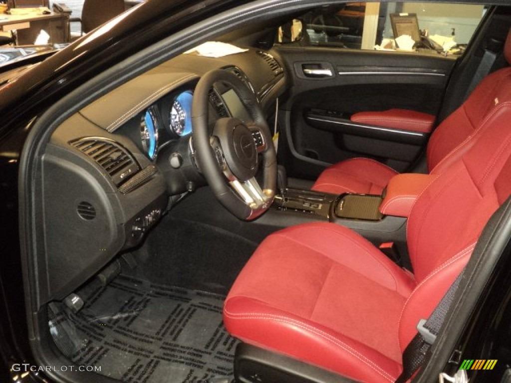 Red 300 Black Chrysler Interior 2013 Srt8