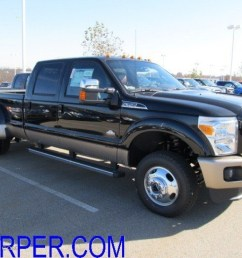 2012 f350 super duty king ranch crew cab 4x4 dually black chaparral leather photo [ 1024 x 768 Pixel ]