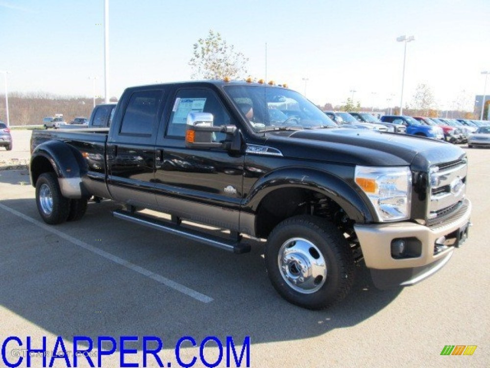 medium resolution of 2012 f350 super duty king ranch crew cab 4x4 dually black chaparral leather photo