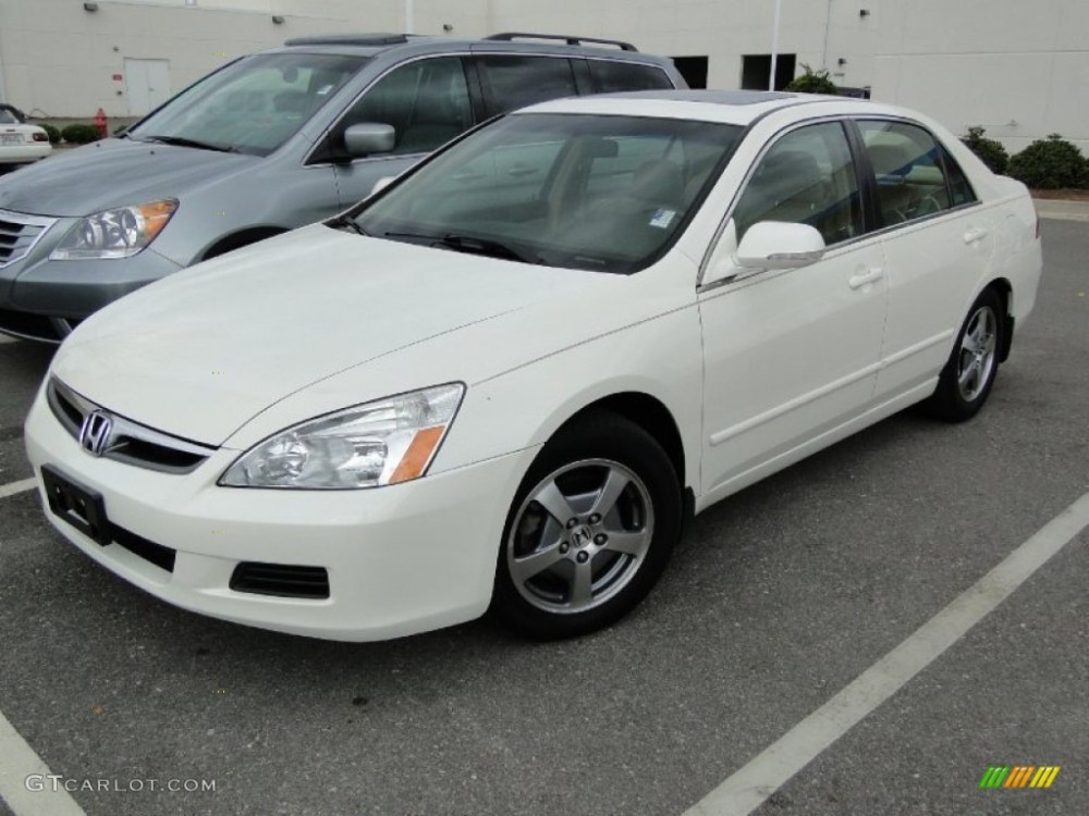 medium resolution of 2006 accord hybrid sedan premium white pearl ivory photo 1