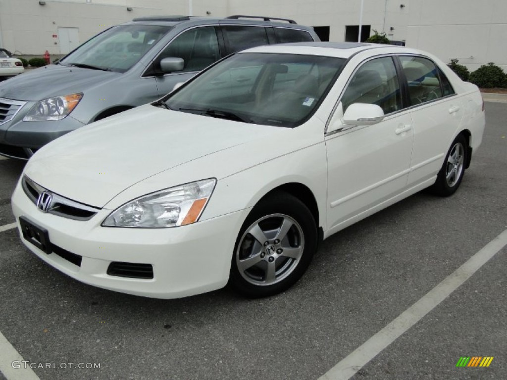 hight resolution of 2006 accord hybrid sedan premium white pearl ivory photo 1