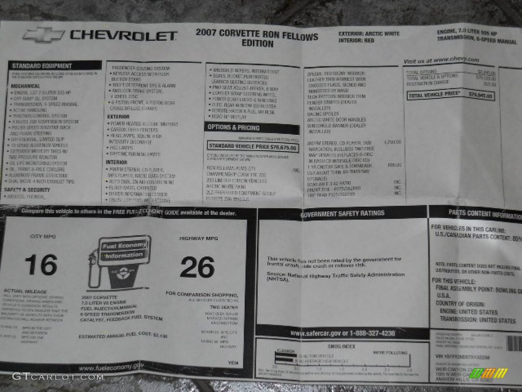 1969 Color Corvette Codes