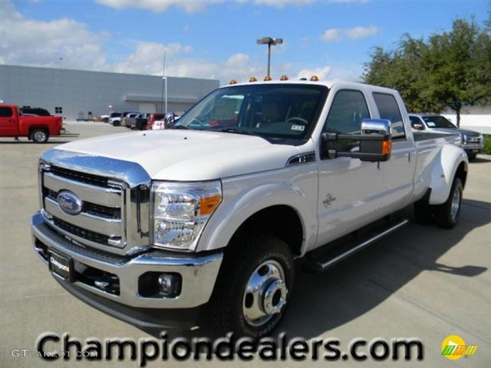 medium resolution of 2012 f350 super duty lariat crew cab 4x4 dually white platinum metallic tri coat