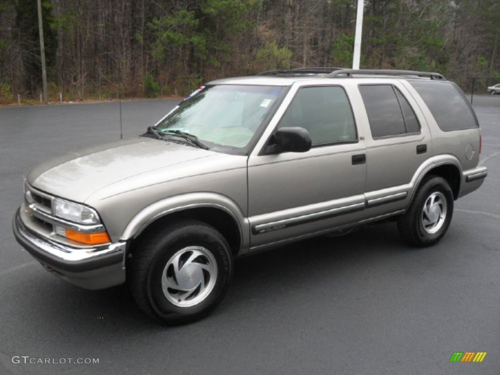 medium resolution of 1999 blazer lt 4x4 light pewter metallic beige photo 1