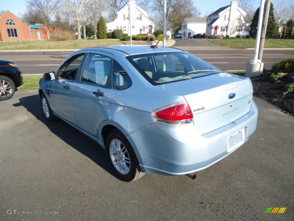 medium resolution of light ice blue metallic 2008 ford focus se sedan exterior photo 58397333