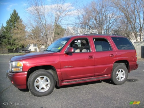 small resolution of garnet red metallic 2001 gmc yukon denali awd exterior photo 58569954