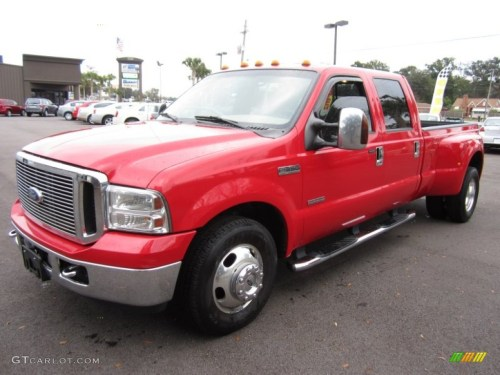 small resolution of 2006 f350 super duty lariat crew cab dually red clearcoat tan photo 1