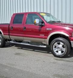 2006 f350 super duty lariat fx4 crew cab 4x4 toreador red metallic tan photo [ 1024 x 768 Pixel ]