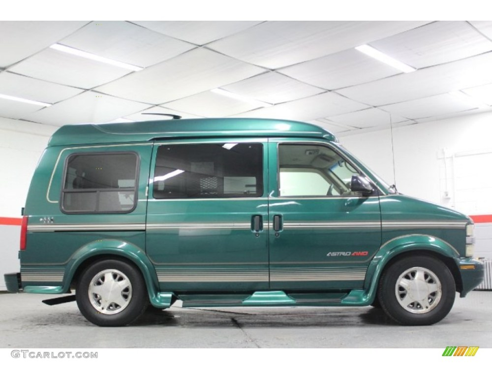 medium resolution of dark forest green metallic 2000 chevrolet astro awd passenger conversion van exterior photo 60702382