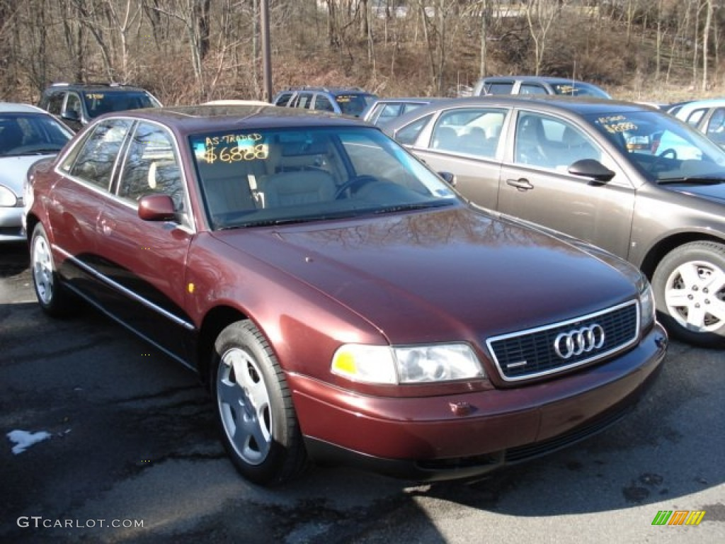 hight resolution of andora red pearl 1998 audi a8 4 2 quattro exterior photo 60902569