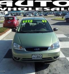 2007 focus zx4 ses sedan kiwi green metallic dark pebble light pebble photo [ 1024 x 768 Pixel ]
