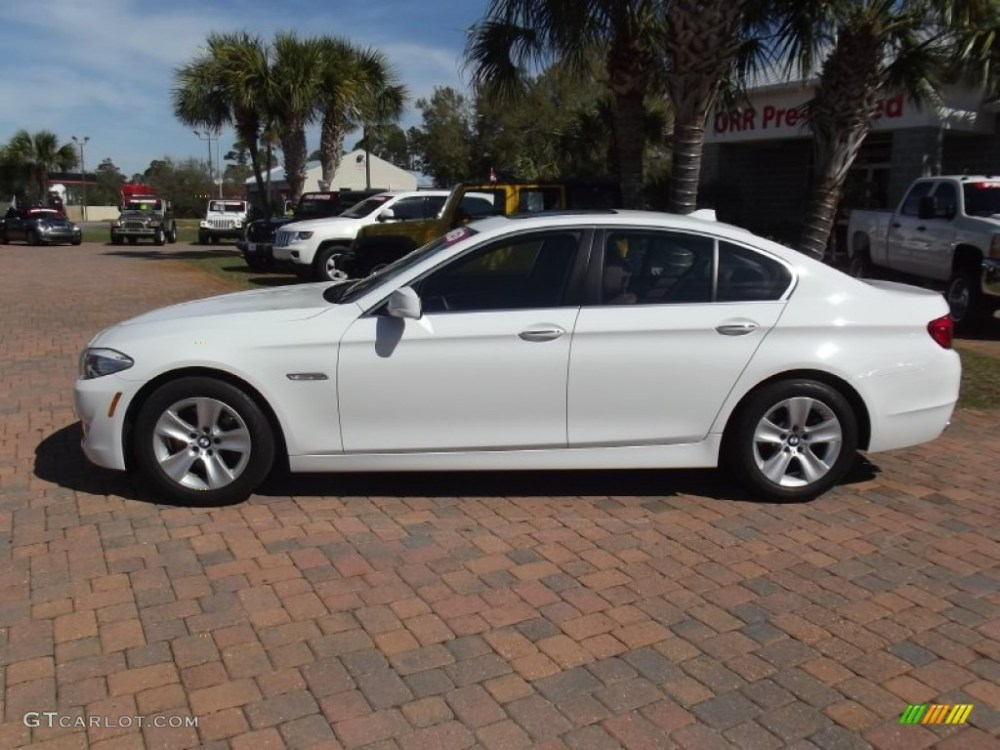 medium resolution of alpine white 2011 bmw 5 series 528i sedan exterior photo 61245014