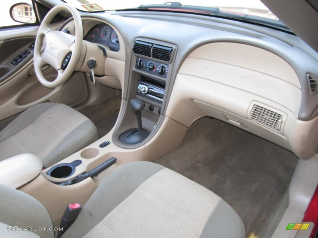 hight resolution of 2002 ford mustang v6 convertible medium parchment dashboard photo 63002659