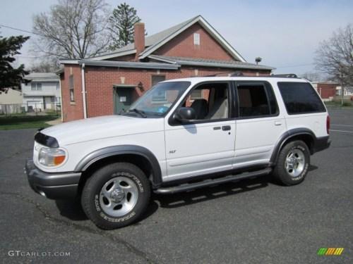 small resolution of 1999 explorer xlt 4x4 oxford white medium graphite grey photo 1
