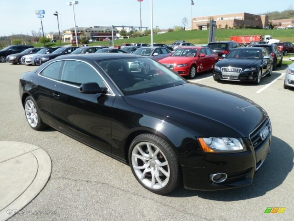 medium resolution of brilliant black 2010 audi a5 2 0t quattro coupe exterior photo 63190591