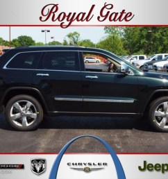 2012 black forest green pearl jeep grand cherokee overland 4x4 64100278 [ 1024 x 768 Pixel ]