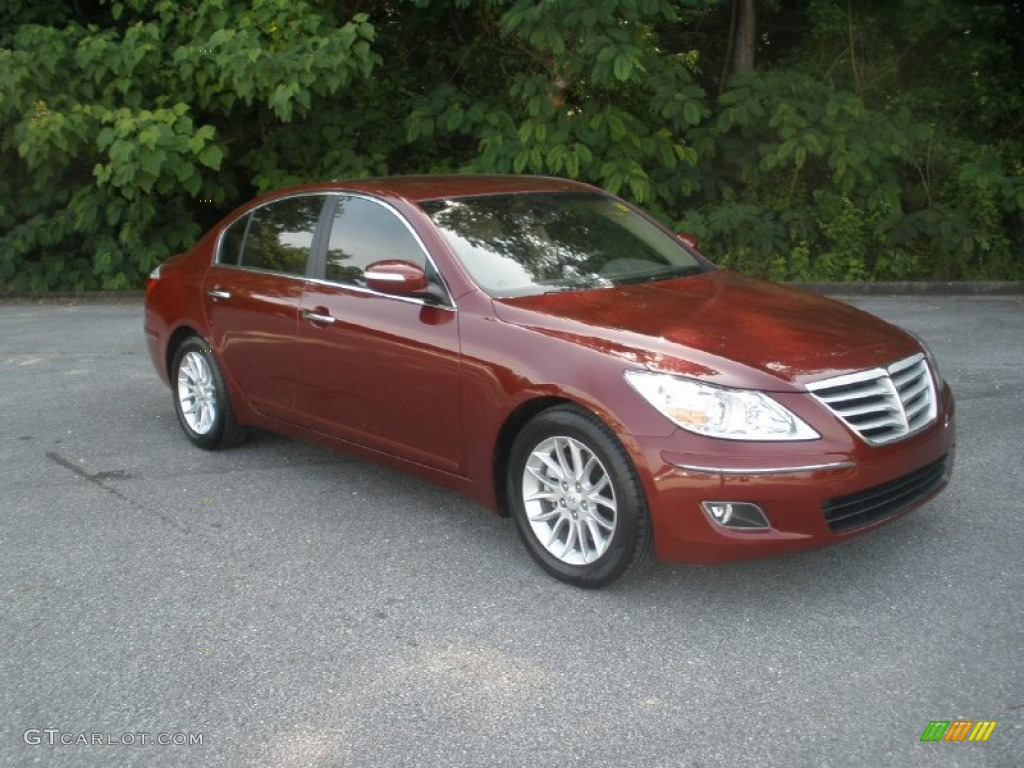 hight resolution of cabernet red pearl hyundai genesis hyundai genesis 3 8 sedan