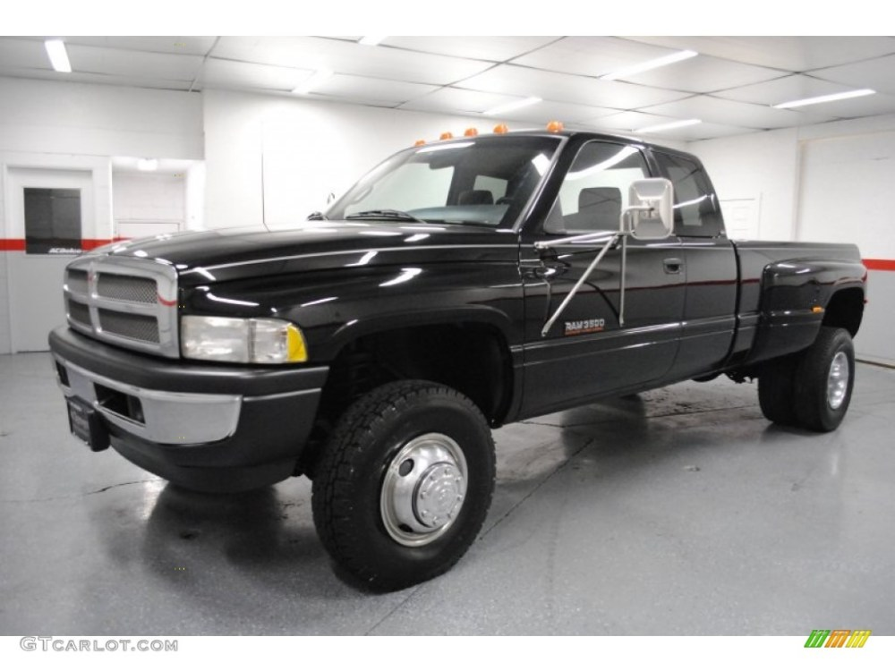 medium resolution of black 1997 dodge ram 3500 laramie extended cab 4x4 dually exterior photo 65296136