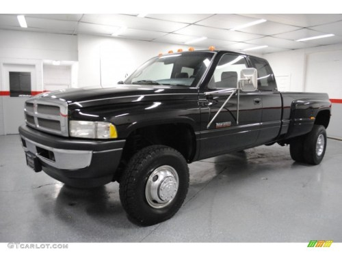 small resolution of black 1997 dodge ram 3500 laramie extended cab 4x4 dually exterior photo 65296136