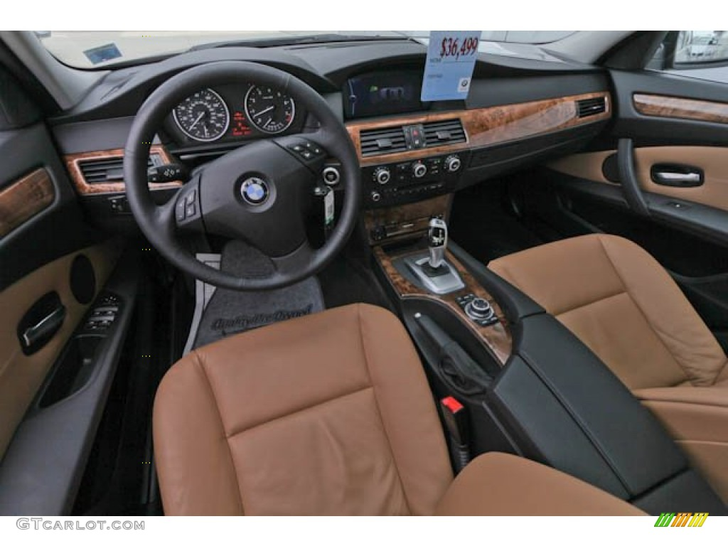 hight resolution of natural brown interior 2010 bmw 5 series 535i xdrive sedan photo 69189910