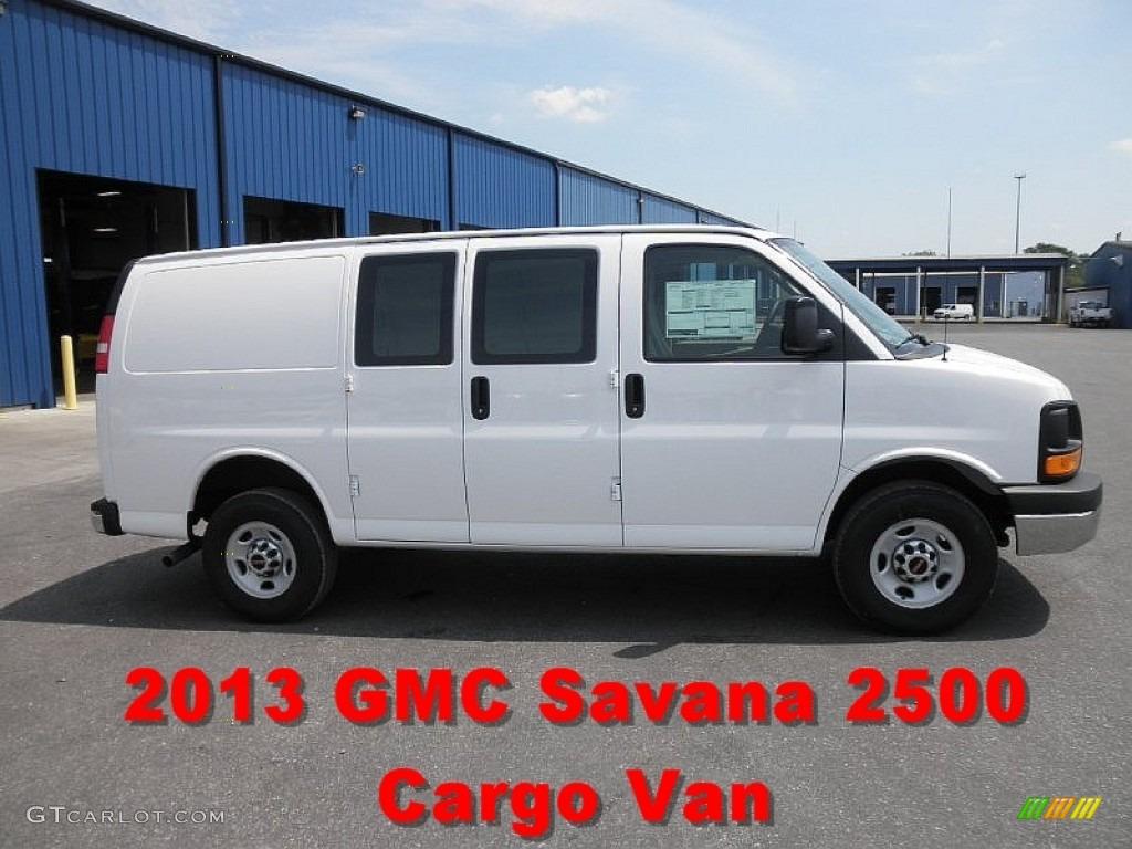2013 Summit White GMC Savana Van 2500 Cargo #69461452   GTCarLot.com - Car Color Galleries
