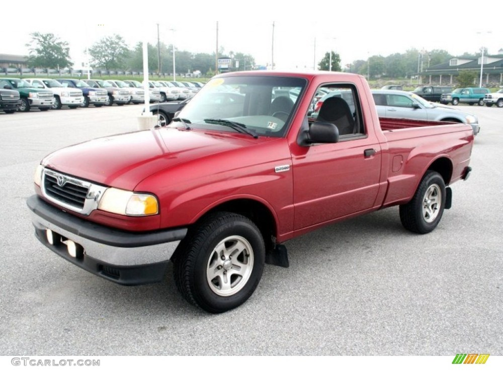 medium resolution of 1999 b series truck b2500 se regular cab toreador red metallic gray photo