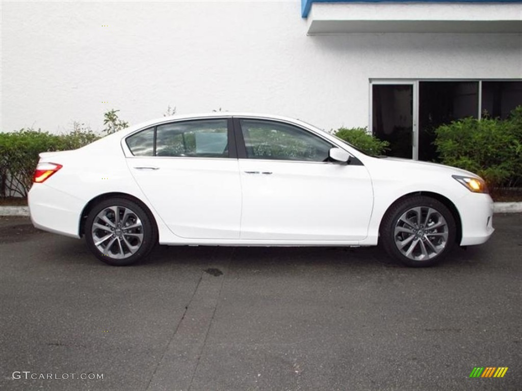 White Orchid Pearl Honda Accord Sport 2014