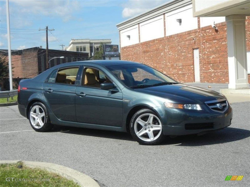 hight resolution of deep green pearl 2004 acura tl 3 2 exterior photo 71217193