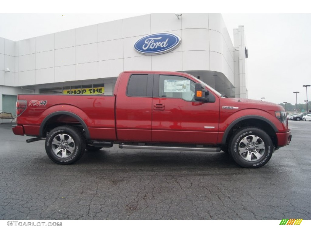 hight resolution of ruby red metallic 2013 ford f150 fx4 supercab 4x4 exterior photo 71539954
