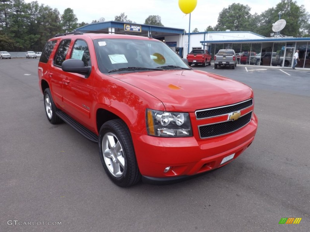 Victory Red 2013 Chevrolet Tahoe LT Exterior Photo