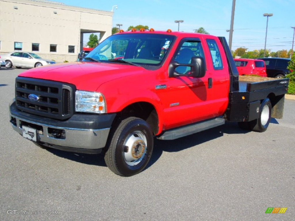 hight resolution of 2006 f350 super duty xl supercab 4x4 flatbed red clearcoat medium flint photo