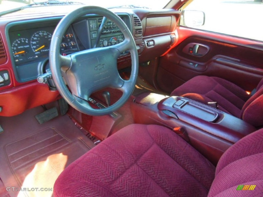 medium resolution of 1997 tahoe ls 4x4 dark cherry metallic red photo 29