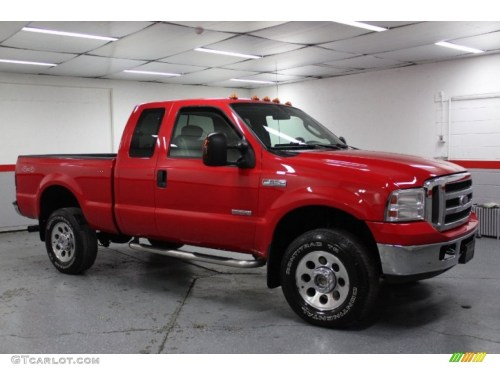 small resolution of 2006 f350 super duty xlt supercab 4x4 red clearcoat medium flint photo 1