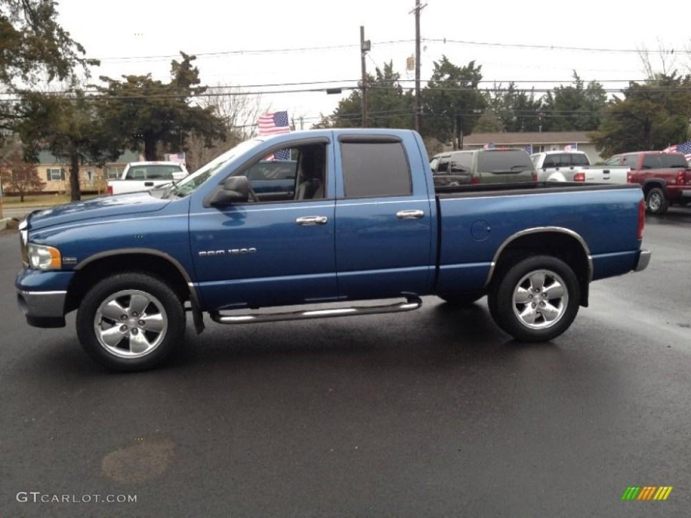medium resolution of atlantic blue pearl 2004 dodge ram 1500 slt quad cab 4x4 exterior photo 74592071