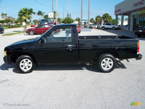 small resolution of super black nissan hardbody truck
