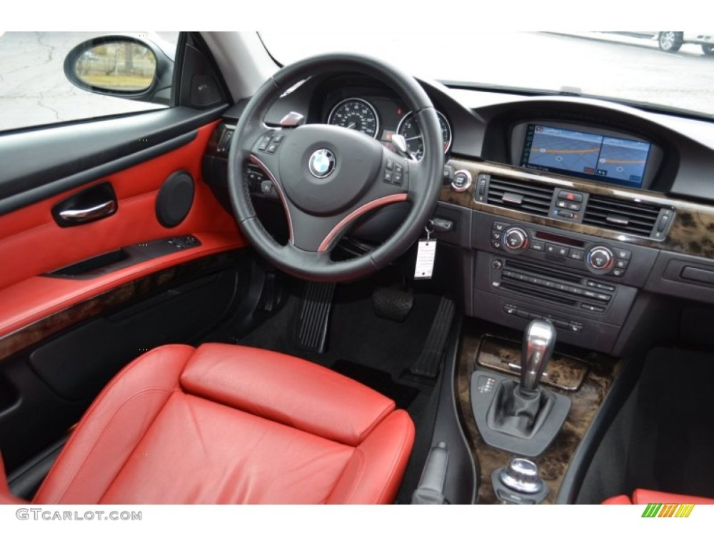 medium resolution of coral red black interior 2008 bmw 3 series 335xi coupe photo 77857134