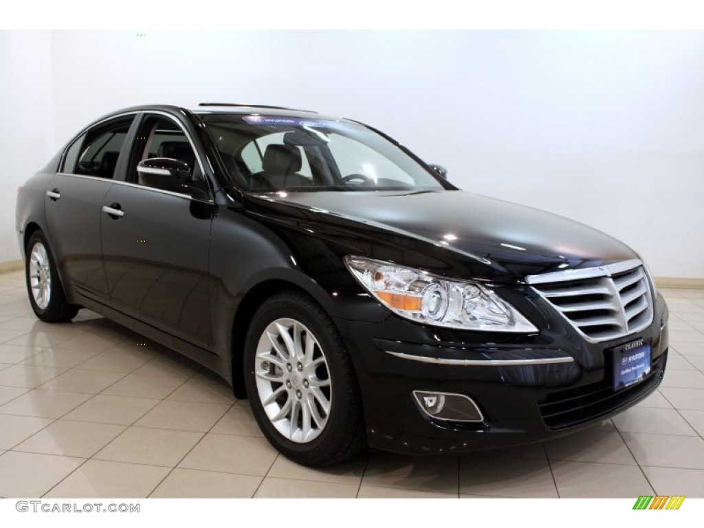 hight resolution of 2011 genesis 3 8 sedan black noir pearl jet black photo 1
