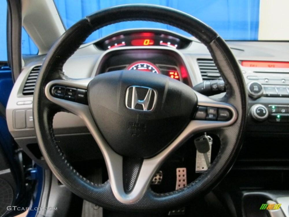 medium resolution of 2007 honda civic si sedan black steering wheel photo 81375880