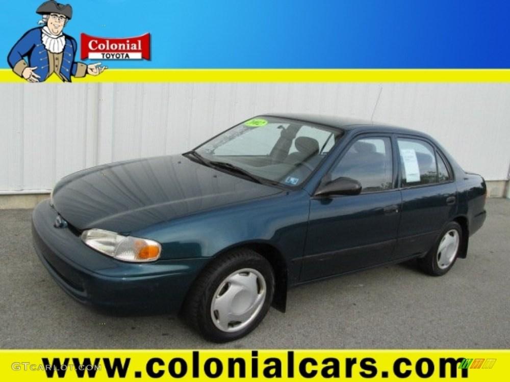 medium resolution of 2002 dark blue green metallic chevrolet prizm 81685501