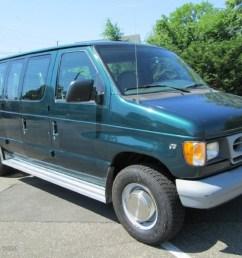 deep emerald green metallic 1999 ford e series van e350 super duty xlt extended passenger exterior [ 1024 x 768 Pixel ]